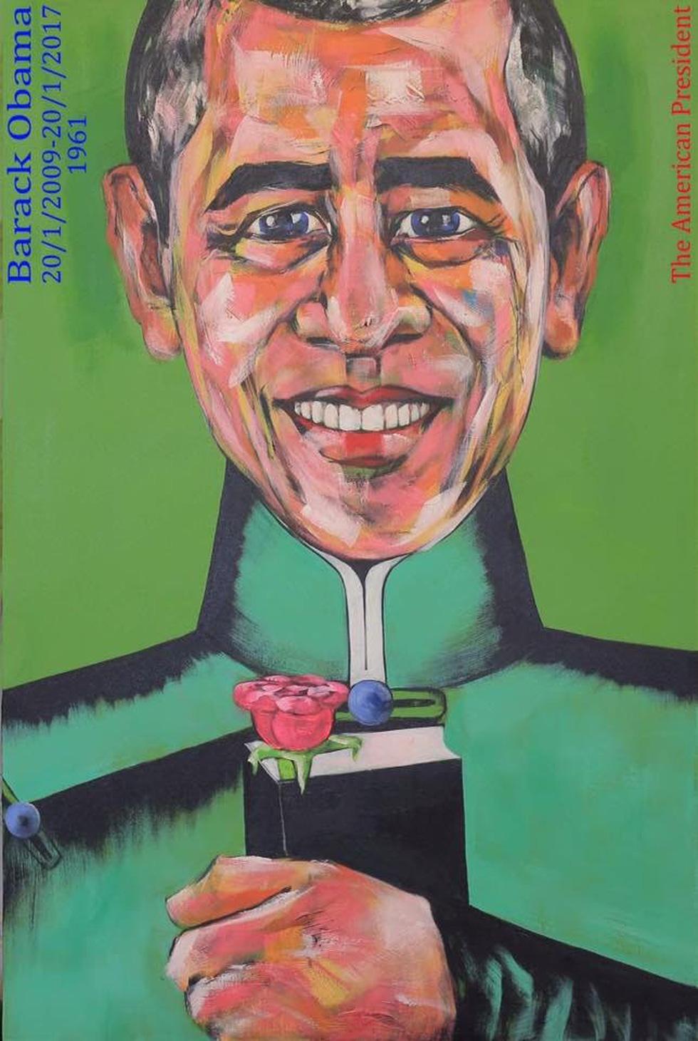 Họa sĩ Việt vẽ 44 tổng thống Mỹ mặc áo dài dù chưa từng gặp ai - Ảnh 4.