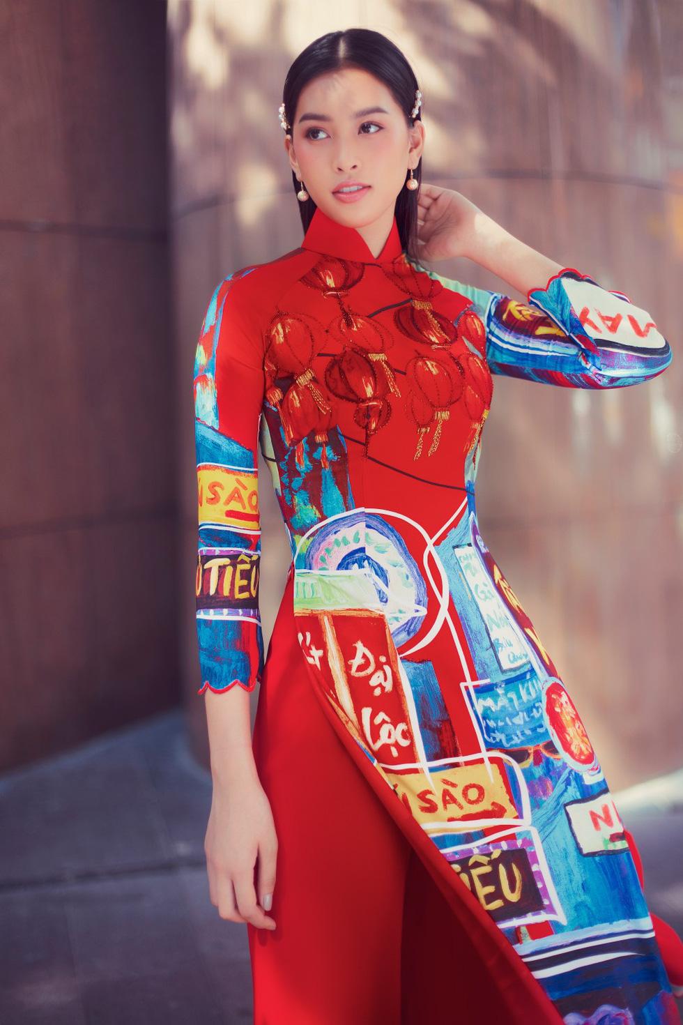 Hoa hậu Tiểu Vy khoe sắc cùng bộ sưu tập áo dài Sài Gòn ơi! - Ảnh 2.