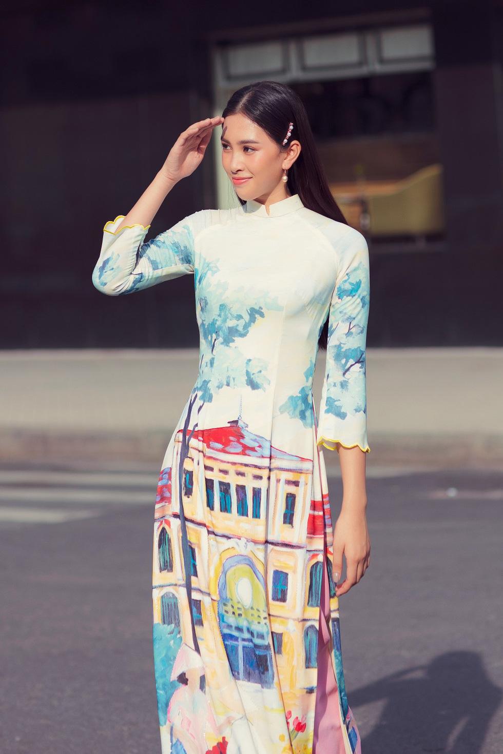Hoa hậu Tiểu Vy khoe sắc cùng bộ sưu tập áo dài Sài Gòn ơi! - Ảnh 4.