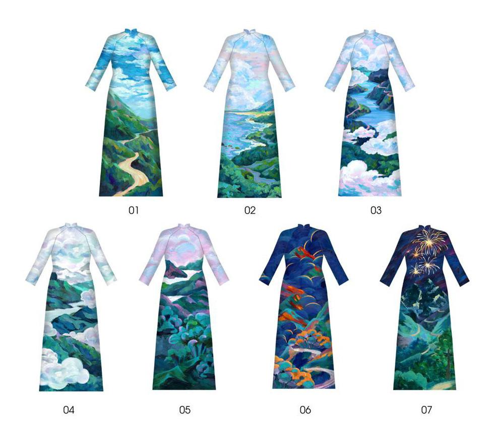 Bộ sưu tập áo dài đèo Hải Vân giúp Lương Thùy Linh đăng quang - Ảnh 3.
