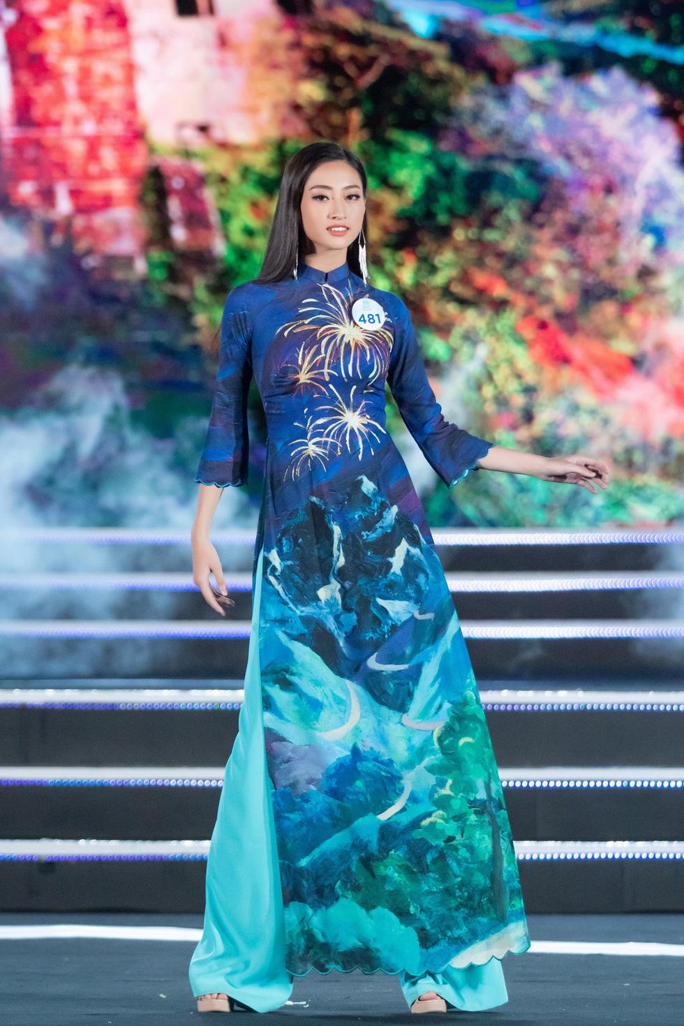 Bộ sưu tập áo dài đèo Hải Vân giúp Lương Thùy Linh đăng quang - Ảnh 4.