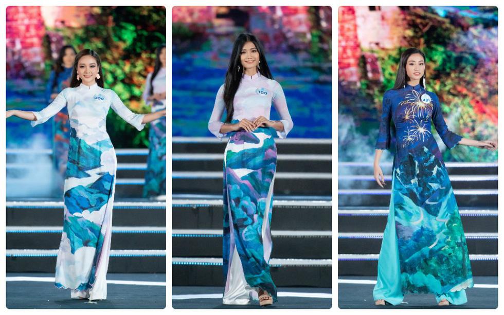 Bộ sưu tập áo dài đèo Hải Vân giúp Lương Thùy Linh đăng quang - Ảnh 1.