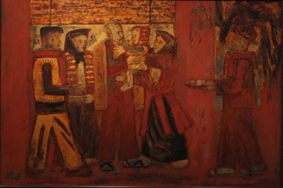 Ngắm tranh danh họa Tô Ngọc Vân, Trần Văn Cẩn vẽ Bác Hồ - Ảnh 8.