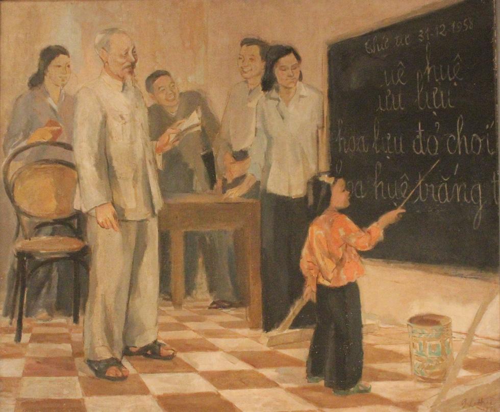 Ngắm tranh danh họa Tô Ngọc Vân, Trần Văn Cẩn vẽ Bác Hồ - Ảnh 12.