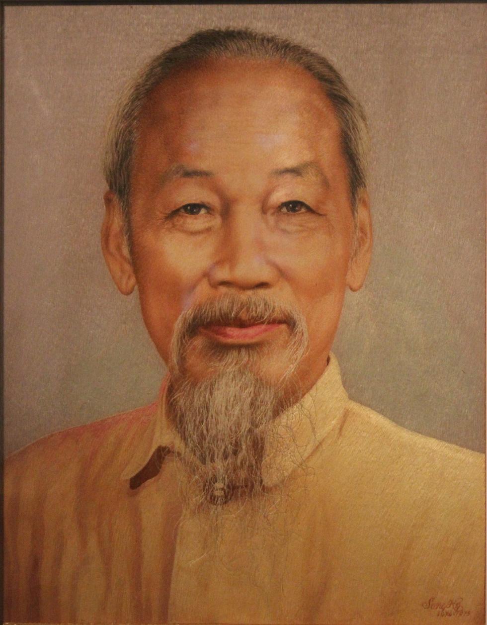 Ngắm tranh danh họa Tô Ngọc Vân, Trần Văn Cẩn vẽ Bác Hồ - Ảnh 4.