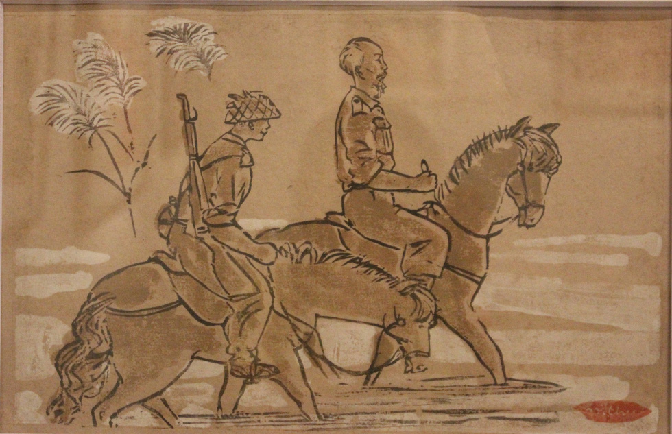 Ngắm tranh danh họa Tô Ngọc Vân, Trần Văn Cẩn vẽ Bác Hồ - Ảnh 16.
