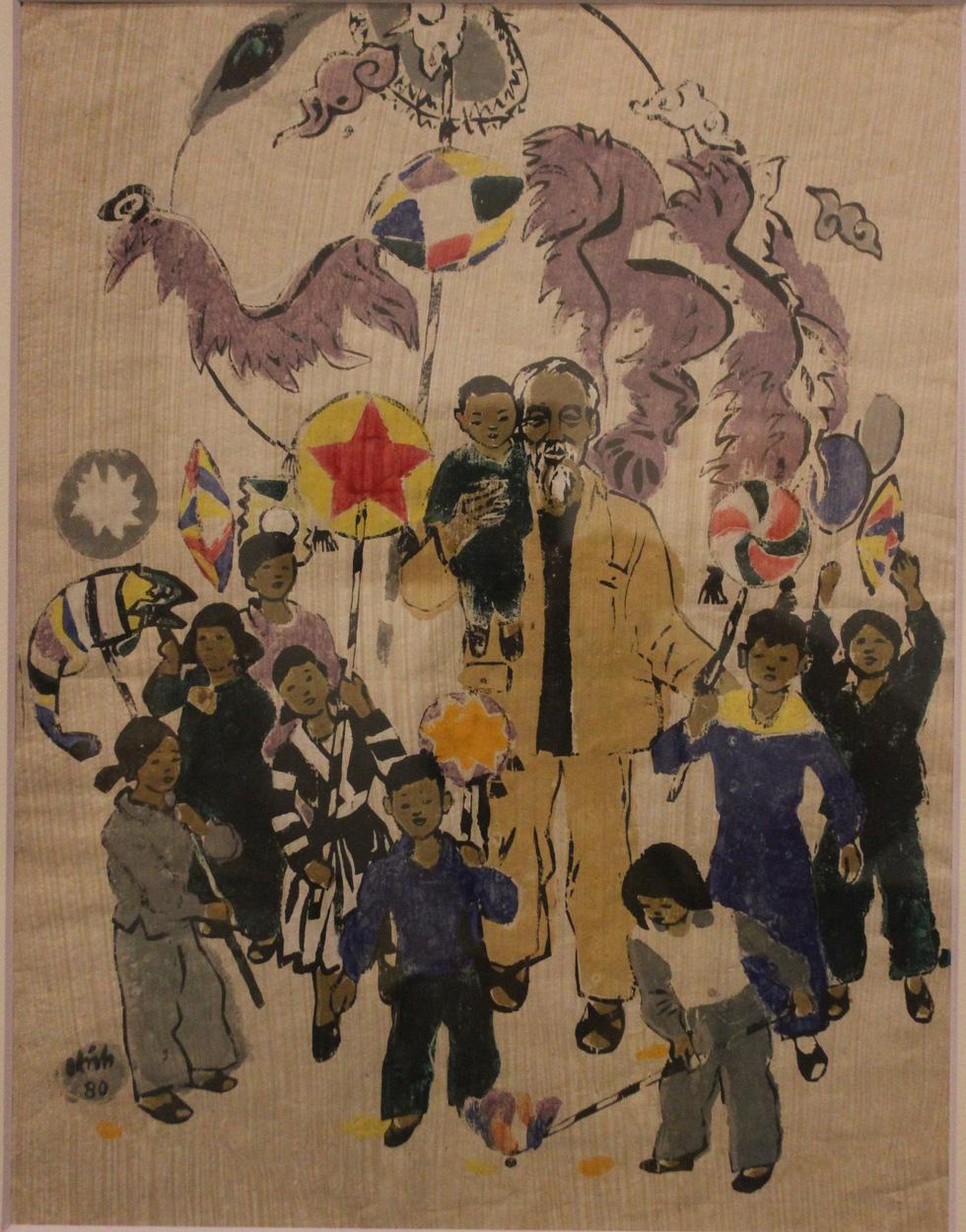 Ngắm tranh danh họa Tô Ngọc Vân, Trần Văn Cẩn vẽ Bác Hồ - Ảnh 21.