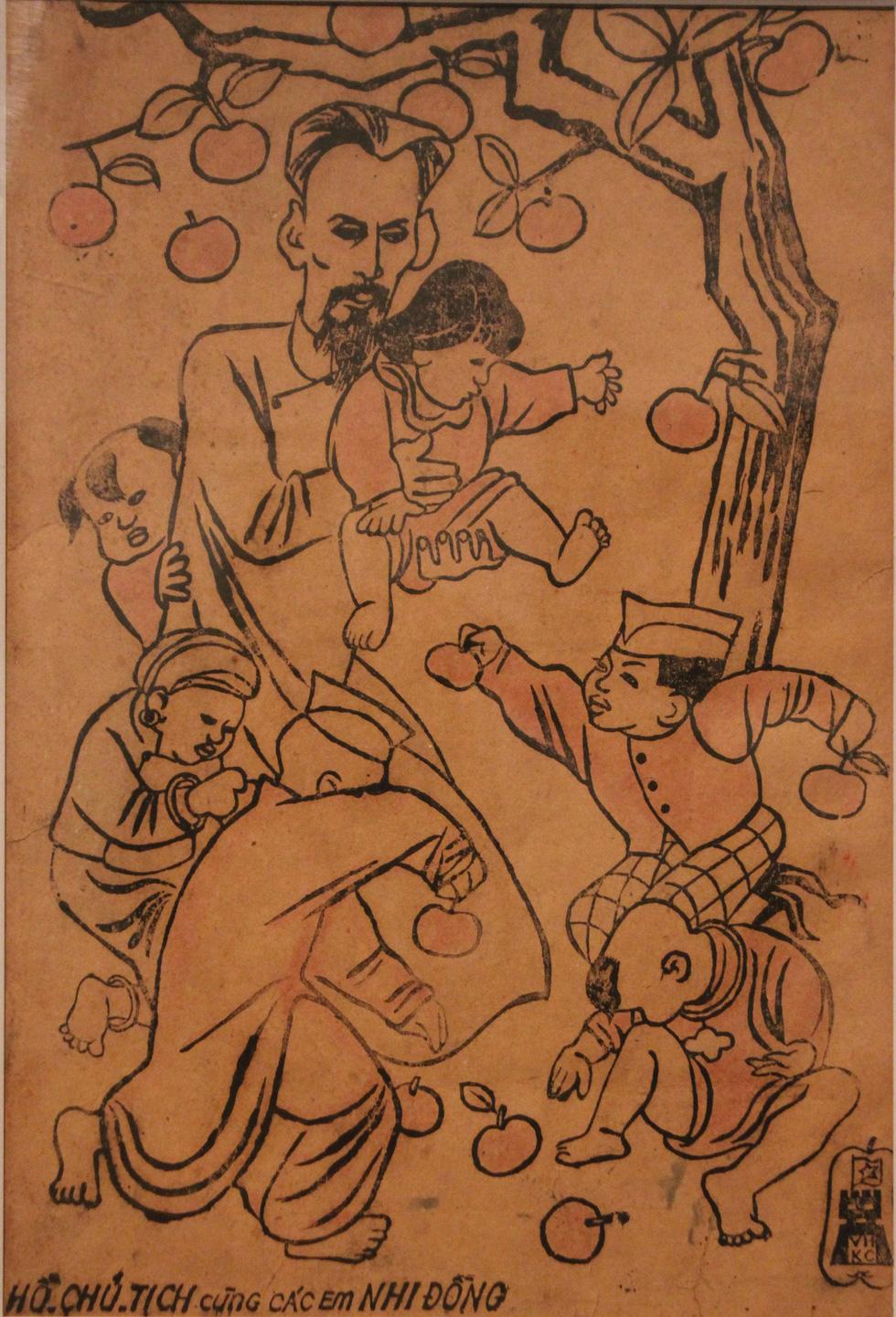 Ngắm tranh danh họa Tô Ngọc Vân, Trần Văn Cẩn vẽ Bác Hồ - Ảnh 2.