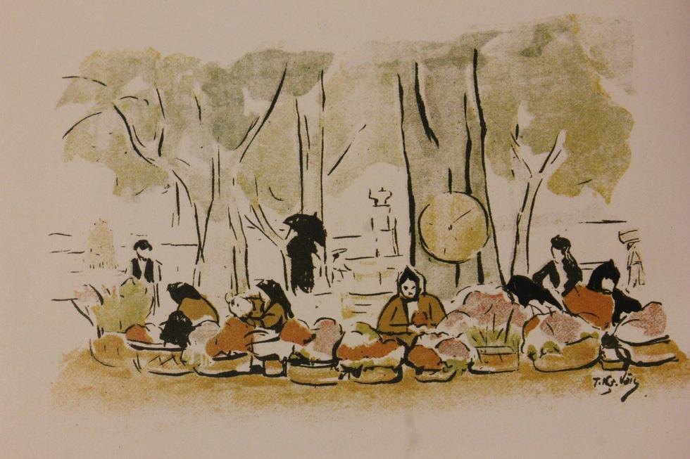Bất ngờ với gánh hàng rong Hà Nội xưa trong tranh họa sĩ triệu đô Lê Phổ - Ảnh 7.