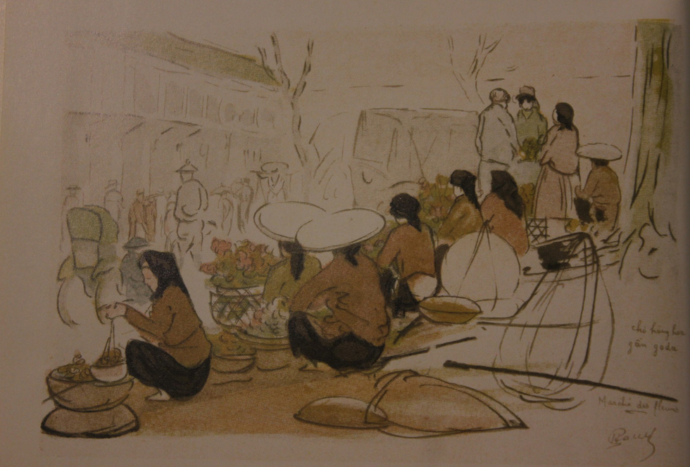 Bất ngờ với gánh hàng rong Hà Nội xưa trong tranh họa sĩ triệu đô Lê Phổ - Ảnh 9.