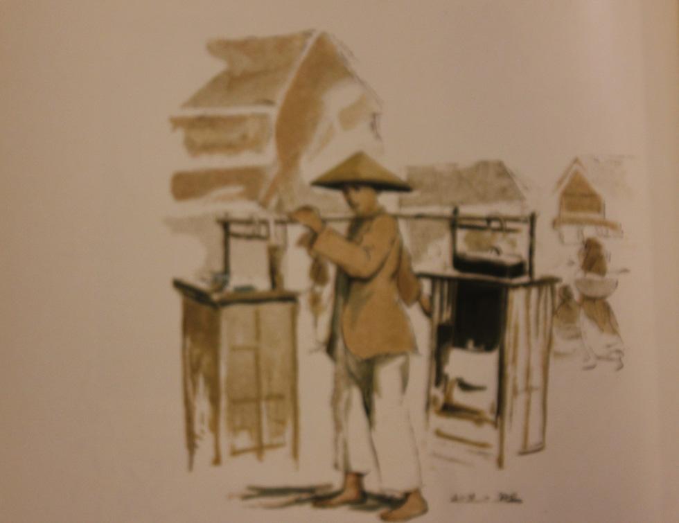 Bất ngờ với gánh hàng rong Hà Nội xưa trong tranh họa sĩ triệu đô Lê Phổ - Ảnh 10.