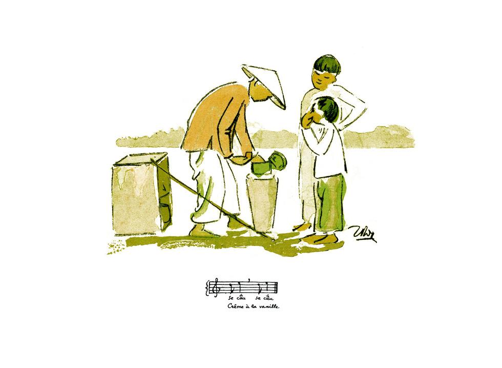 Bất ngờ với gánh hàng rong Hà Nội xưa trong tranh họa sĩ triệu đô Lê Phổ - Ảnh 1.