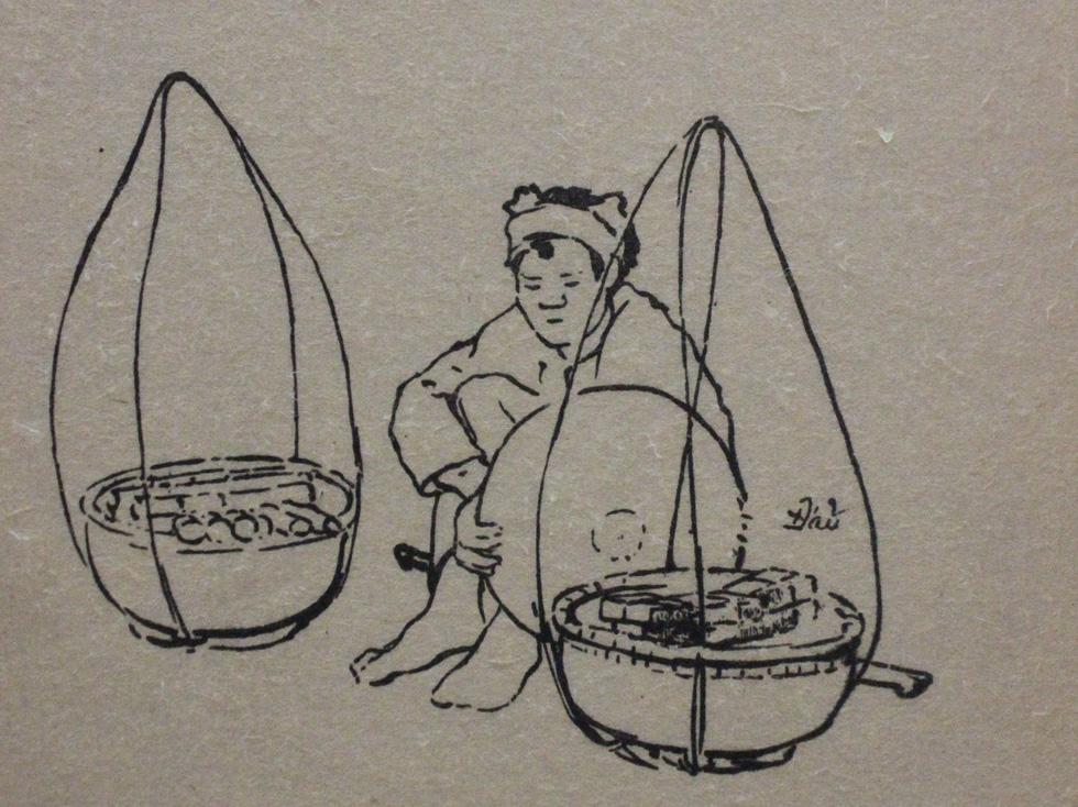 Bất ngờ với gánh hàng rong Hà Nội xưa trong tranh họa sĩ triệu đô Lê Phổ - Ảnh 14.