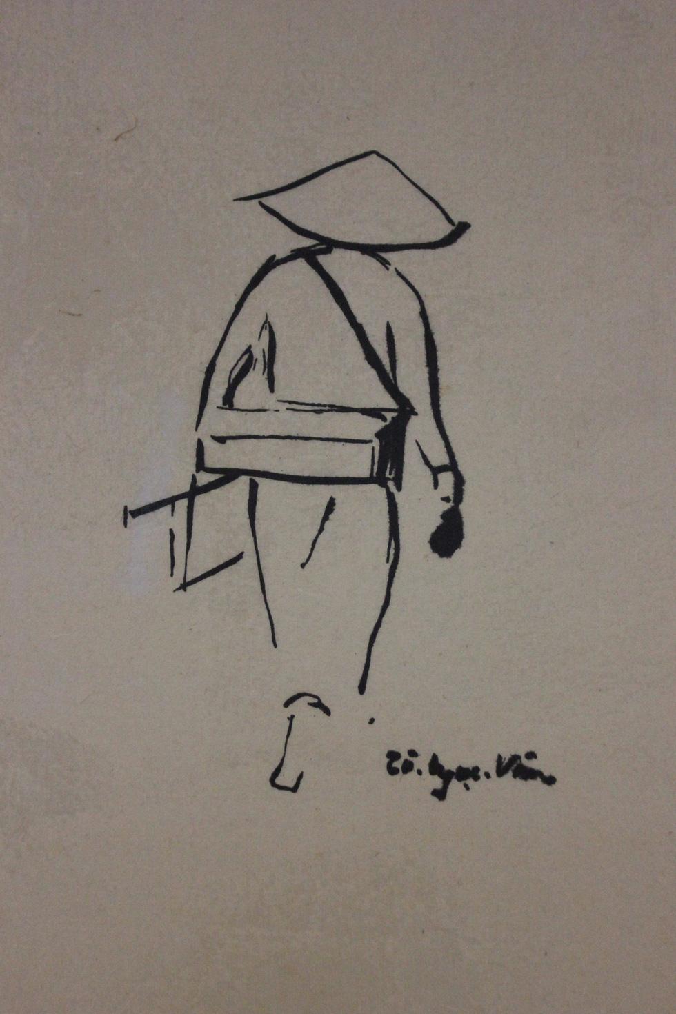 Bất ngờ với gánh hàng rong Hà Nội xưa trong tranh họa sĩ triệu đô Lê Phổ - Ảnh 4.
