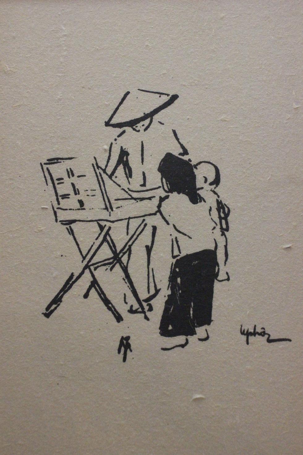 Bất ngờ với gánh hàng rong Hà Nội xưa trong tranh họa sĩ triệu đô Lê Phổ - Ảnh 5.