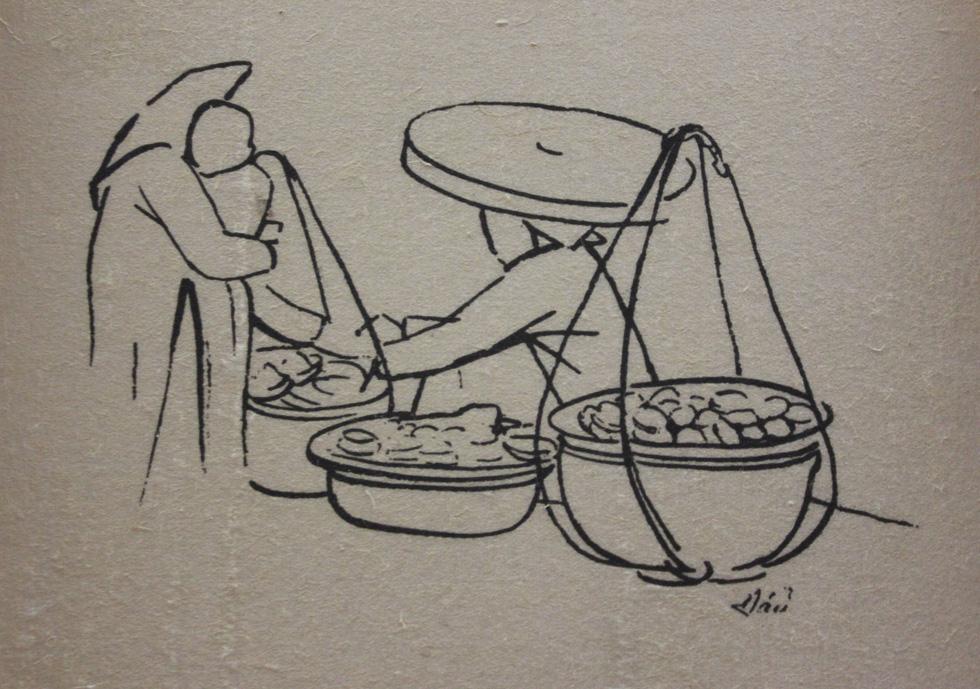 Bất ngờ với gánh hàng rong Hà Nội xưa trong tranh họa sĩ triệu đô Lê Phổ - Ảnh 16.