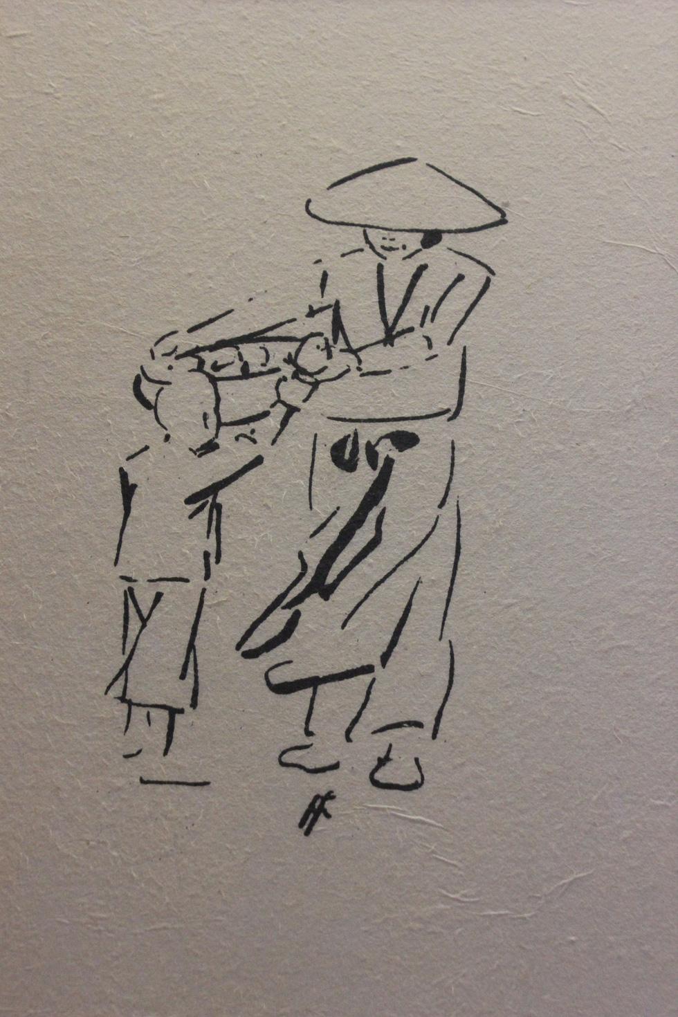 Bất ngờ với gánh hàng rong Hà Nội xưa trong tranh họa sĩ triệu đô Lê Phổ - Ảnh 18.