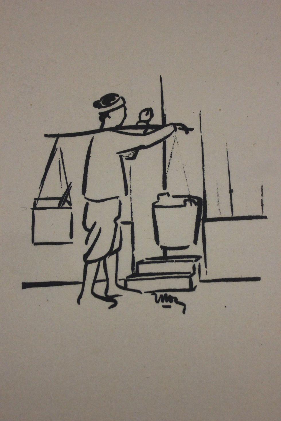 Bất ngờ với gánh hàng rong Hà Nội xưa trong tranh họa sĩ triệu đô Lê Phổ - Ảnh 6.