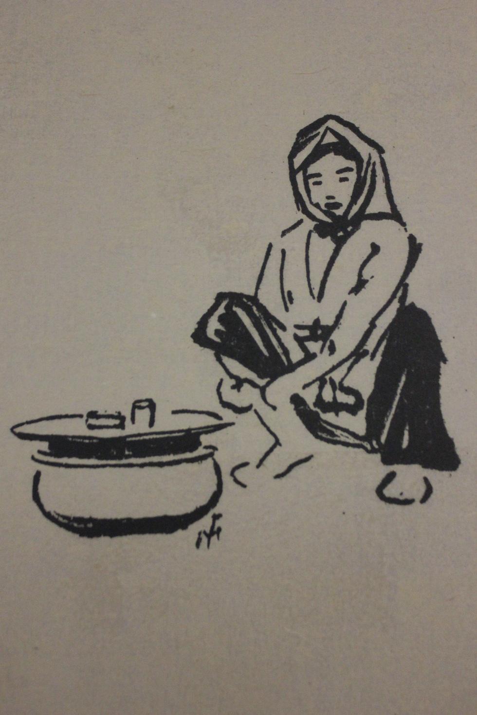 Bất ngờ với gánh hàng rong Hà Nội xưa trong tranh họa sĩ triệu đô Lê Phổ - Ảnh 19.