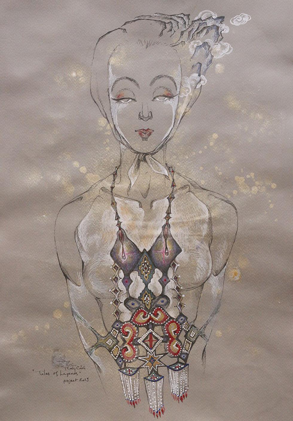 Họa sĩ Việt vẽ những nàng Mỵ Nương được Úc chọn triển lãm - Ảnh 4.
