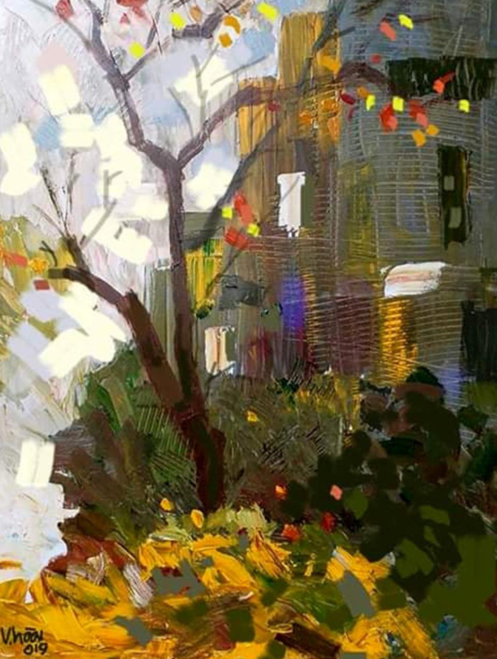 Đến bảo tàng Mỹ thuật TP.HCM xem 22 nghệ sĩ phiêu với hội họa - Ảnh 2.