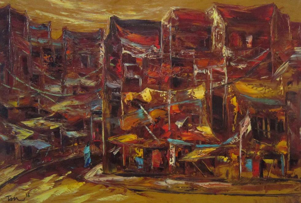 Đến bảo tàng Mỹ thuật TP.HCM xem 22 nghệ sĩ phiêu với hội họa - Ảnh 3.