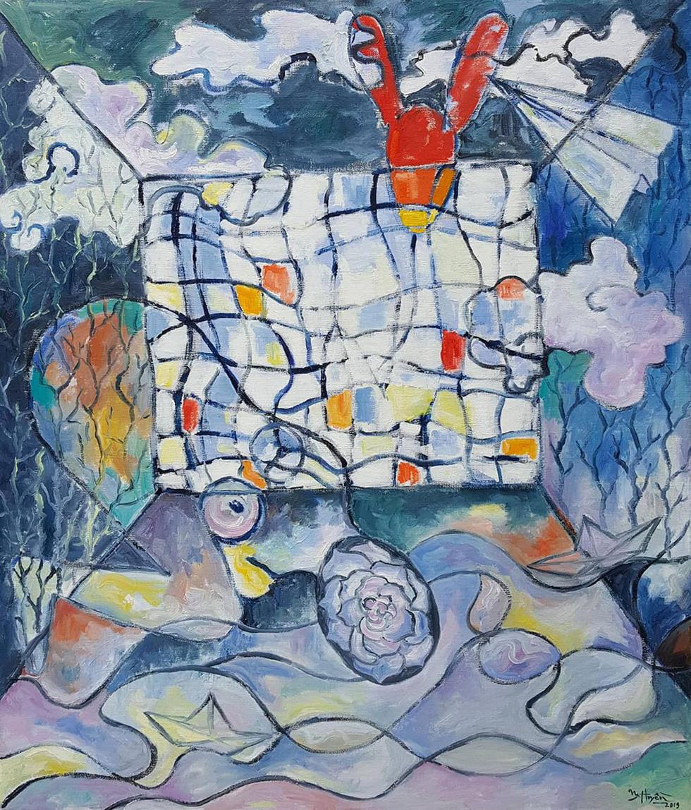 Đến bảo tàng Mỹ thuật TP.HCM xem 22 nghệ sĩ phiêu với hội họa - Ảnh 1.