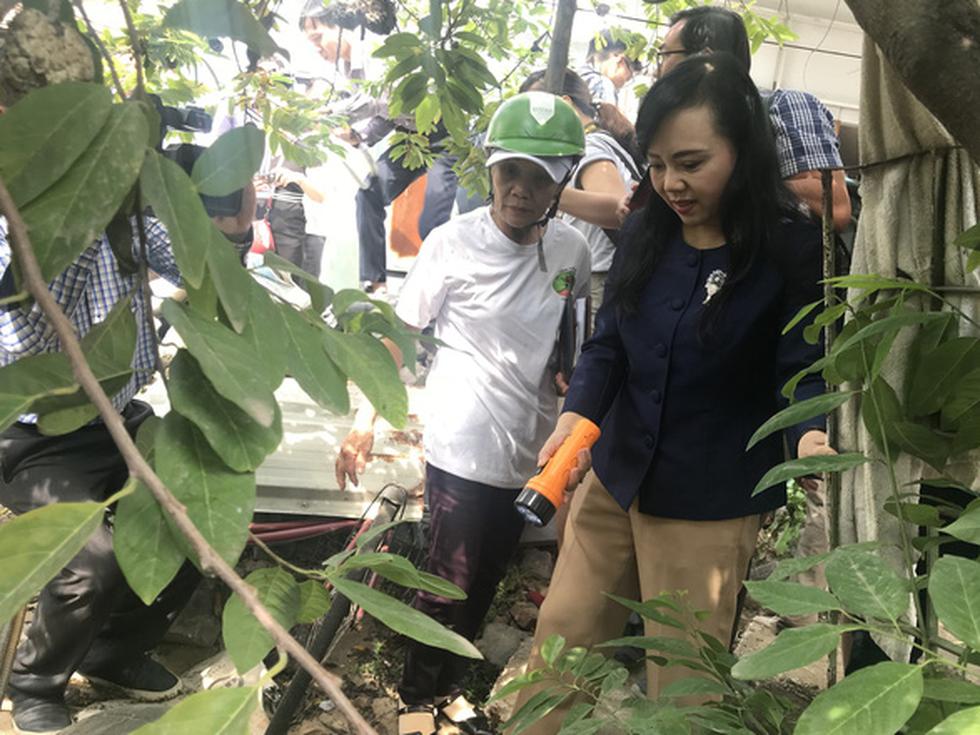 Bộ trưởng Nguyễn Thị Kim Tiến đến nhà dân hướng dẫn cách phòng tránh sốt xuất huyết - Ảnh 1.