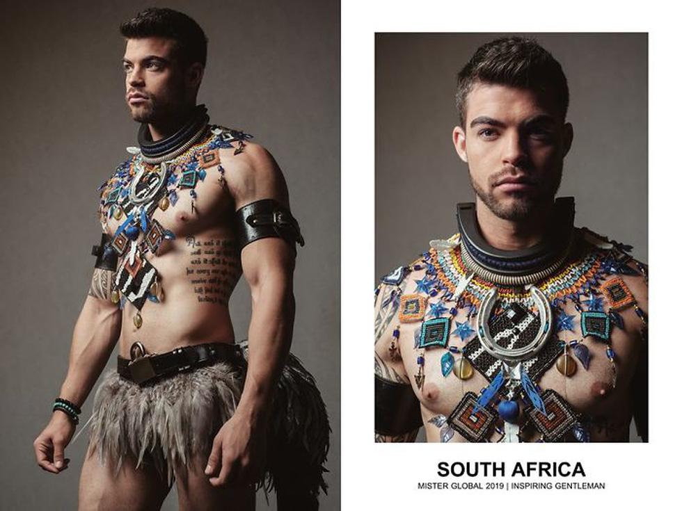 Mister Global khoe dàn hotboy diện trang phục truyền thống nhưng quá nóng - Ảnh 5.