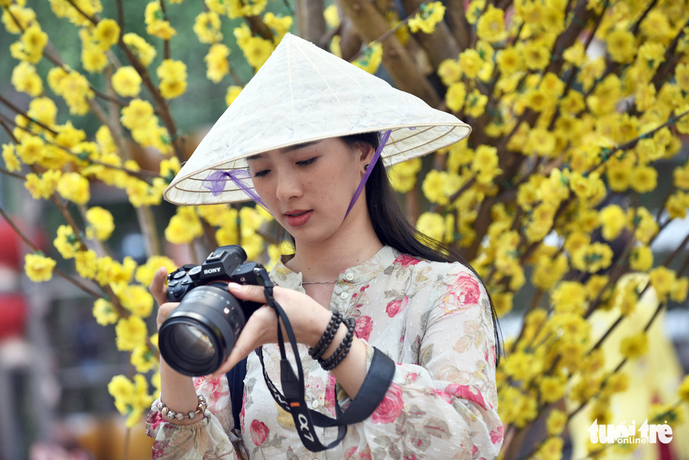 Đường hoa mai, phố ông đồ hút khách ở Lễ hội Tết Việt - Ảnh 10.