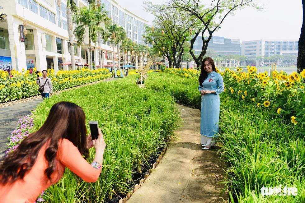 Cận cảnh đường hoa rước lộc đồng hoa Phú Mỹ Hưng Tết Canh Tý - Ảnh 6.