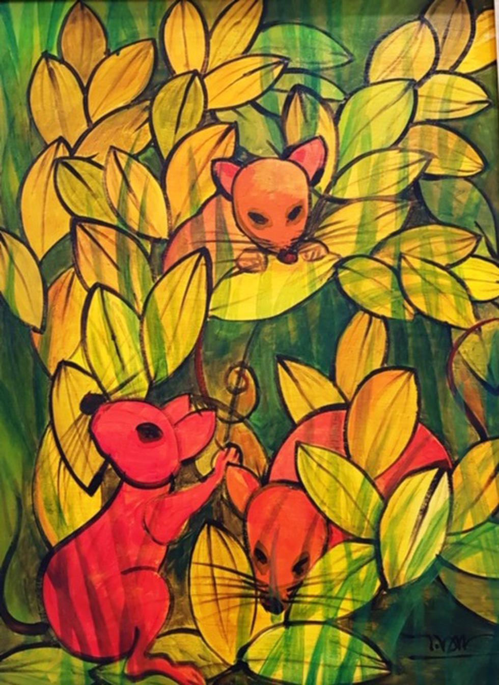 Ấn tượng tranh chuột đón xuân Canh Tý của họa sĩ ba miền - Ảnh 16.