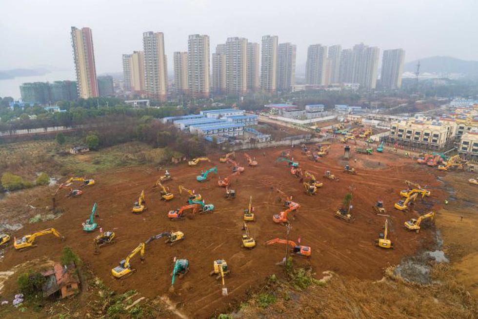 Chùm ảnh bệnh viện 1.300 giường bệnh ở Vũ Hán sau 3 ngày xây dựng - Ảnh 4.
