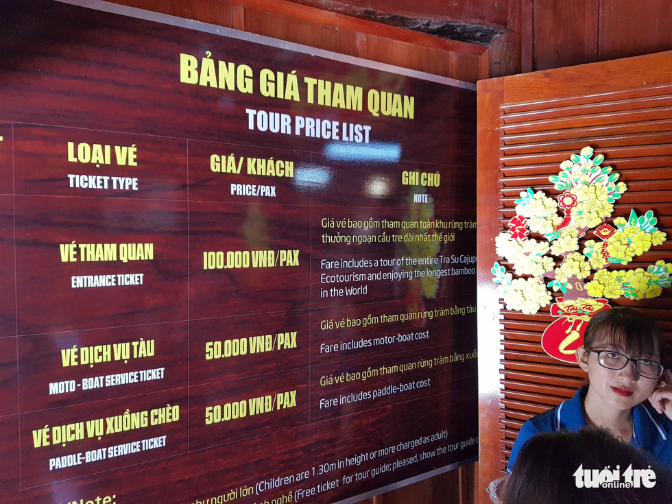 Khách đi cầu Tre dài nhất Việt Nam 10km, mỏi chân thì ăn buffet bánh tét, bánh bò - Ảnh 3.