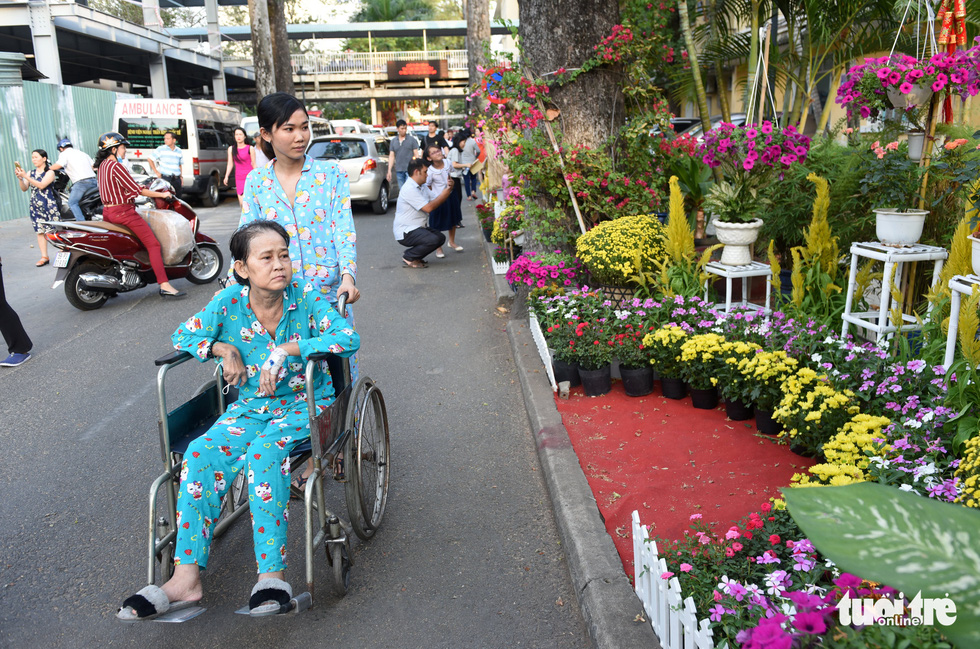 Đường hoa xuân cho bệnh nhân ở Bệnh viện Chợ Rẫy - Ảnh 11.