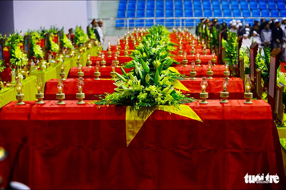 Lễ truy điệu 22 chiến sĩ Đoàn Kinh tế quốc phòng 337: Tiễn các anh về với quê nhà - Ảnh 23.