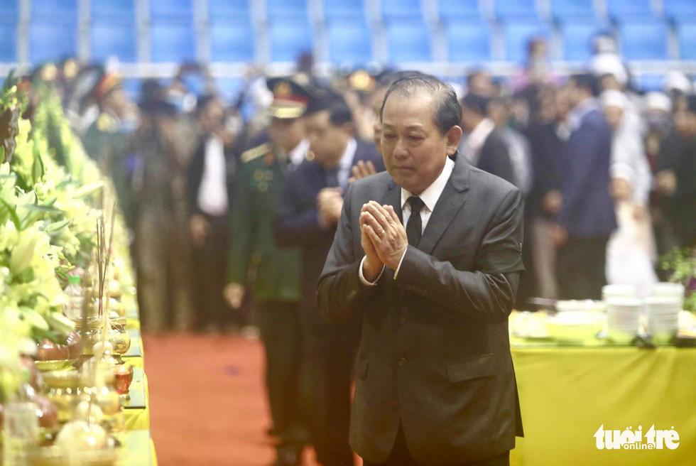Lễ truy điệu 22 chiến sĩ Đoàn Kinh tế quốc phòng 337: Tiễn các anh về với quê nhà - Ảnh 14.