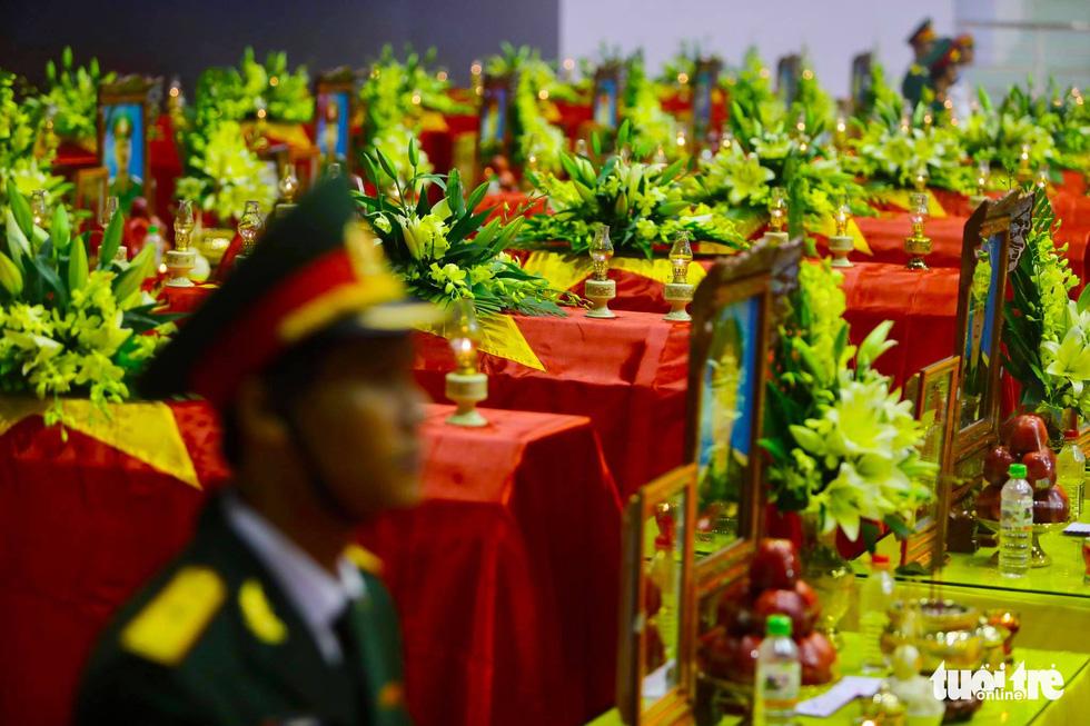 Lễ truy điệu 22 chiến sĩ Đoàn Kinh tế quốc phòng 337: Tiễn các anh về với quê nhà - Ảnh 1.