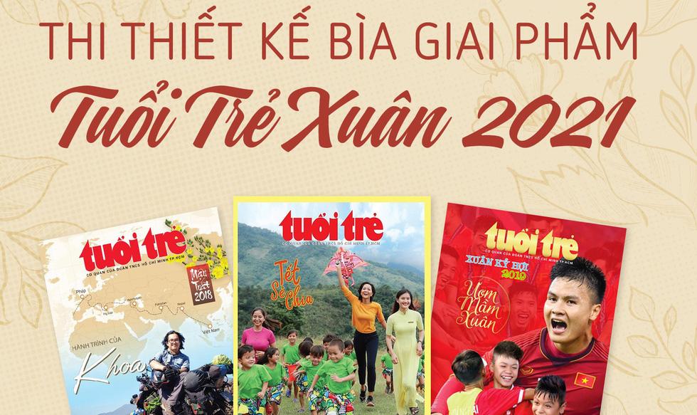 Thiết kế bìa Tuổi Trẻ Xuân Tân Sửu: Dẫu người buồn đến Tết cũng phải vui... - Ảnh 1.