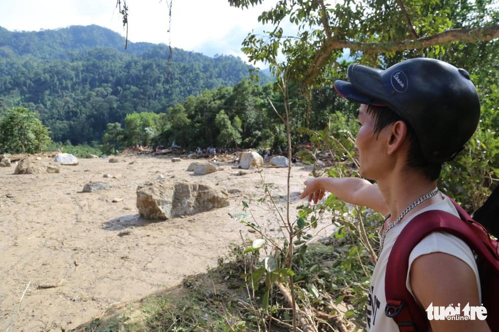 Những hình ảnh đầu tiên ngôi làng bị vùi lấp tại Trà Leng, Nam Trà My - Ảnh 11.