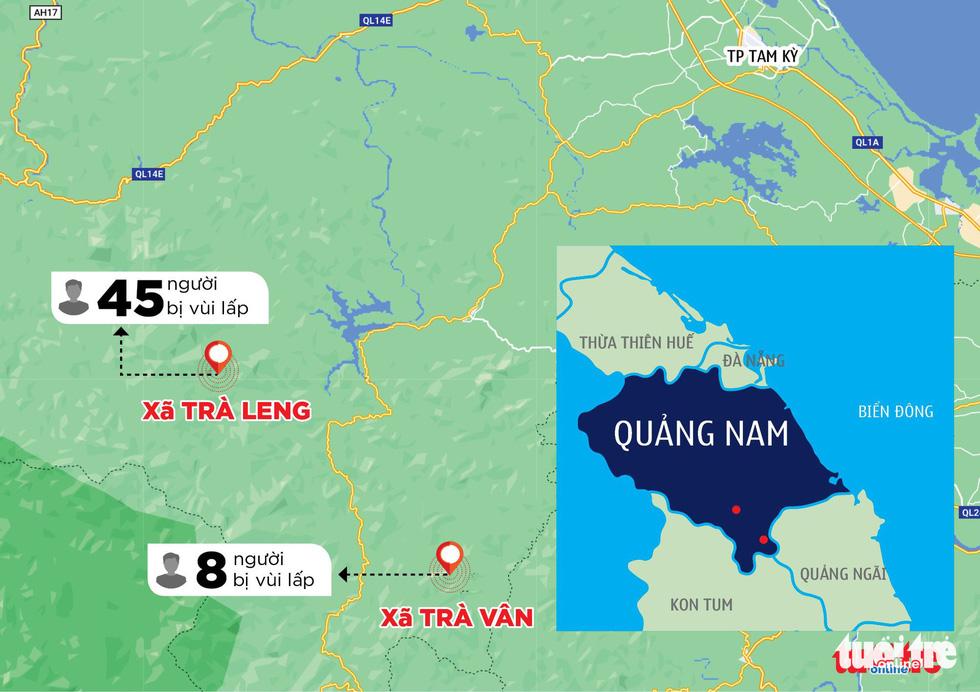 Nóng: Hai vụ sạt lở vùi lấp 53 người ở Quảng Nam, đã thông đường vào Nam Trà My - Ảnh 15.
