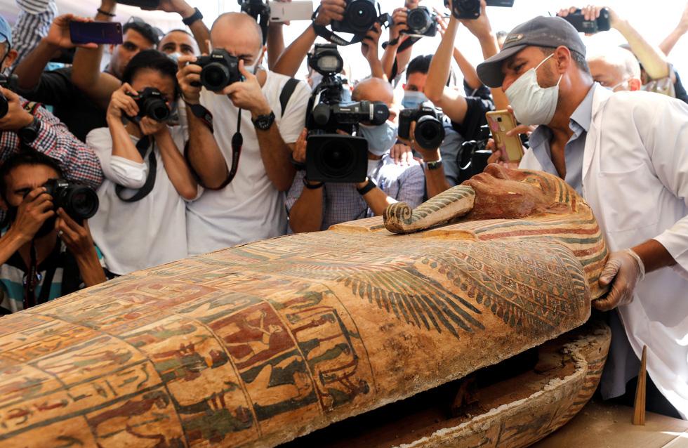 Ai Cập mở quan tài 2.500 năm tuổi, xác ướp còn nguyên - Ảnh 2.
