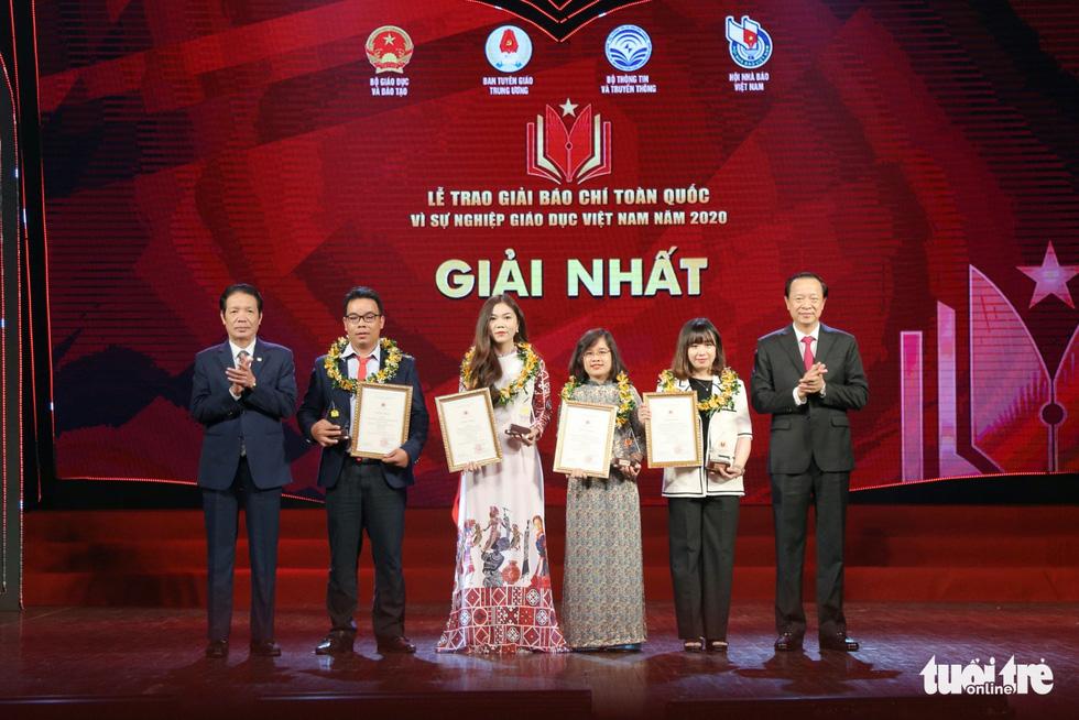 Báo Tuổi Trẻ đạt giải đặc biệt báo chí toàn quốc Vì sự nghiệp giáo dục Việt Nam năm 2020 - Ảnh 2.