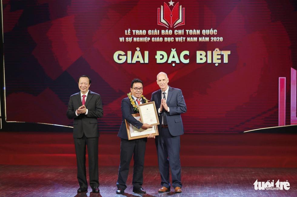 Báo Tuổi Trẻ đạt giải đặc biệt báo chí toàn quốc Vì sự nghiệp giáo dục Việt Nam năm 2020 - Ảnh 1.