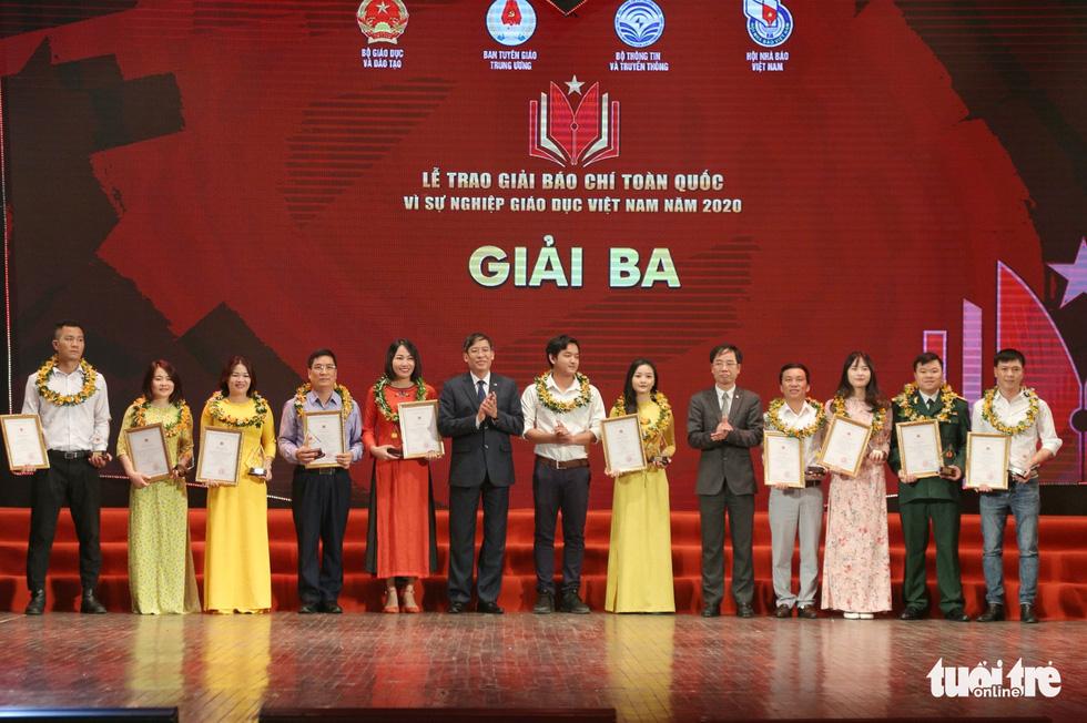 Báo Tuổi Trẻ đạt giải đặc biệt báo chí toàn quốc Vì sự nghiệp giáo dục Việt Nam năm 2020 - Ảnh 4.