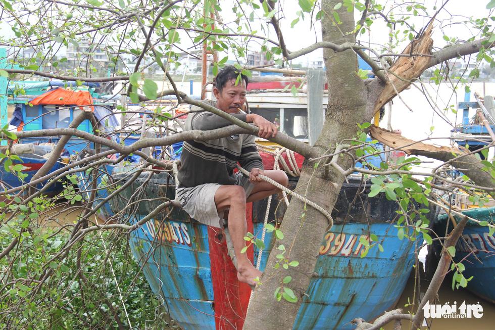 Ngư dân Đà Nẵng đưa thuyền vào sâu sông Hàn, nhường chỗ cho tàu tỉnh bạn trú bão - Ảnh 3.