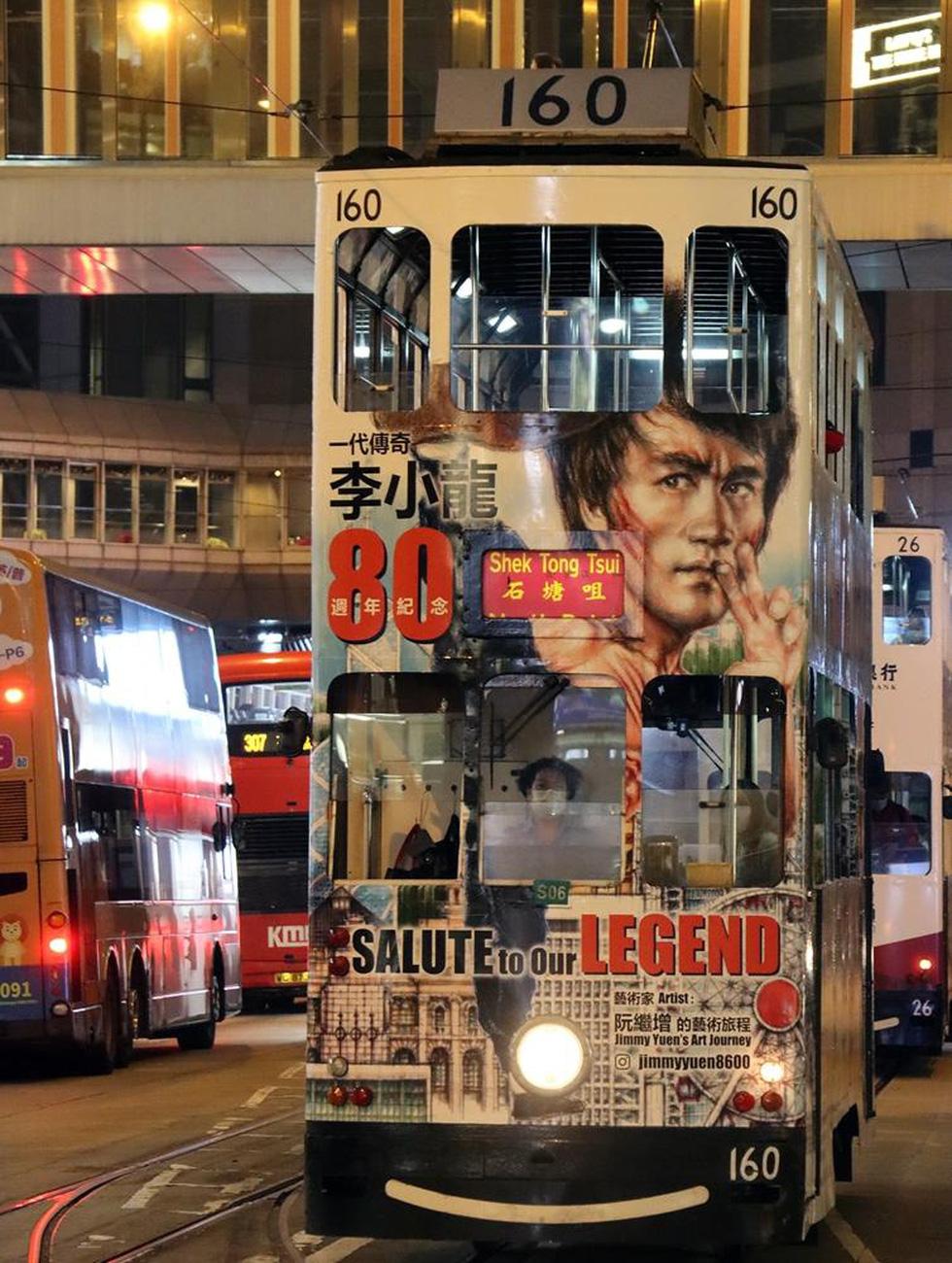 Hong Kong kỷ niệm 80 năm ngày sinh Lý Tiểu Long với chủ đề xe điện - Ảnh 3.