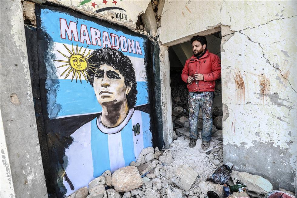 Maradona khiến mặt trời rơi lệ qua tài năng của nghệ sĩ graffiti nổi tiếng - Ảnh 9.