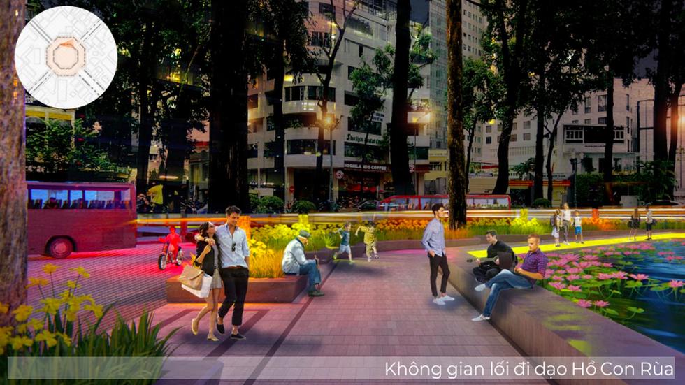 Ngắm khu vực hồ Con Rùa dự kiến cải tạo thành phố đi bộ - Ảnh 8.
