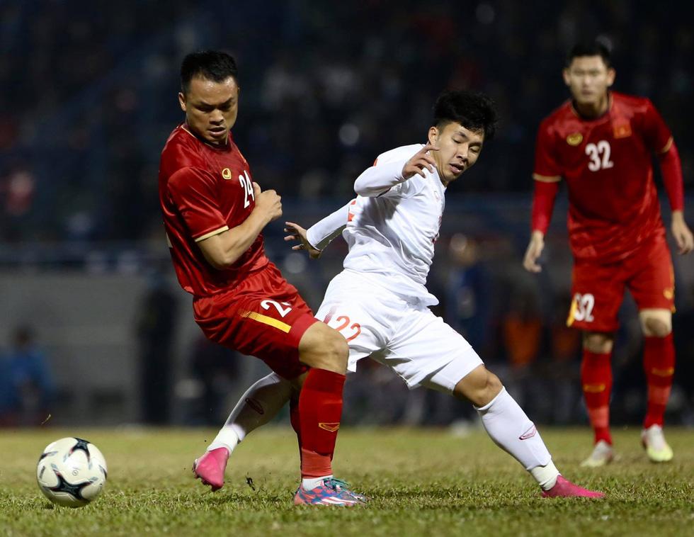 Tuyển Việt Nam thắng đội U22 3-2 trong trận giao hữu tại Quảng Ninh - Ảnh 1.